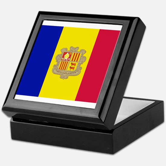 Andorra Flag Keepsake Box