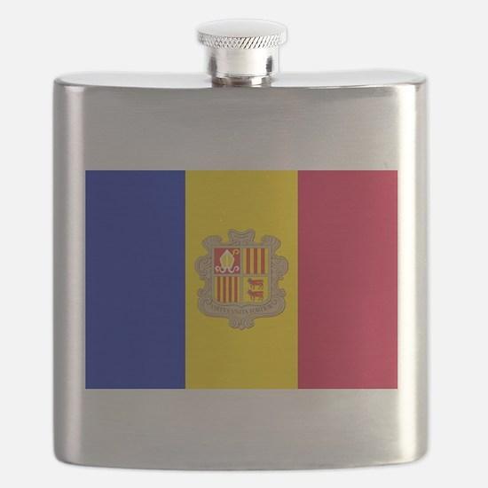 Andorra Flag Flask