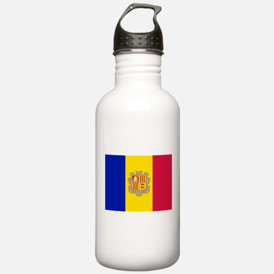 Andorra Flag Water Bottle