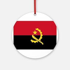 Angola Flag Round Ornament