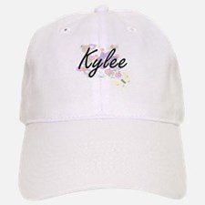 Kylee Artistic Name Design with Flowers Baseball Baseball Cap