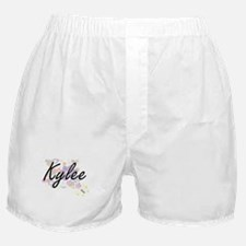Kylee Artistic Name Design with Flowe Boxer Shorts