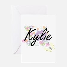 Kylie Artistic Name Design with Flo Greeting Cards