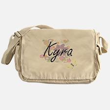 Kyra Artistic Name Design with Flowe Messenger Bag