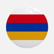 Armenia Flag Round Ornament