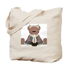 Teddy Bear With Vintage Lamp Tote Bag