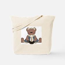 Teddy Bear With Vintage Lamp Tote Bag