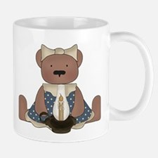 Teddy Bear With Vintage Lamp Mug