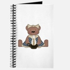 Teddy Bear With Vintage Lamp Journal