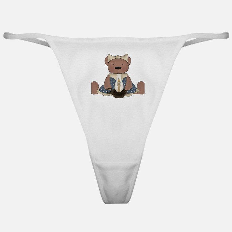 Teddy Bear With Vintage Lamp Classic Thong