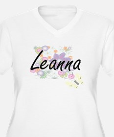 Leanna Artistic Name Design with Plus Size T-Shirt