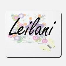 Leilani Artistic Name Design with Flower Mousepad
