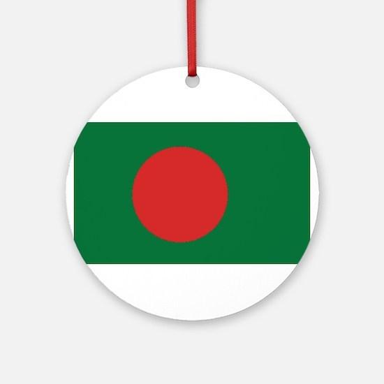Bangladesh Flag Round Ornament