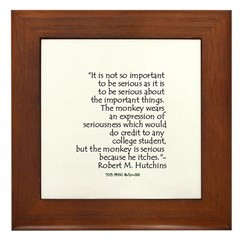 Hutchins Quote Framed Tile
