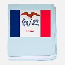 Iowa State Flag baby blanket