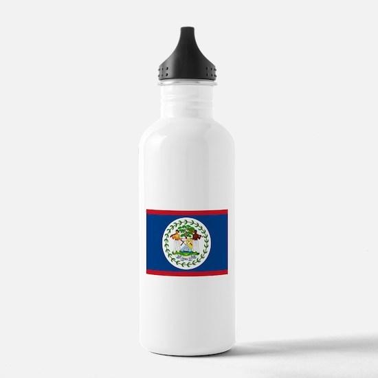 Belize Flag Water Bottle
