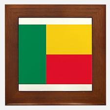 Benin Flag Framed Tile