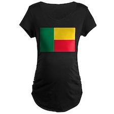 Benin Flag Maternity T-Shirt