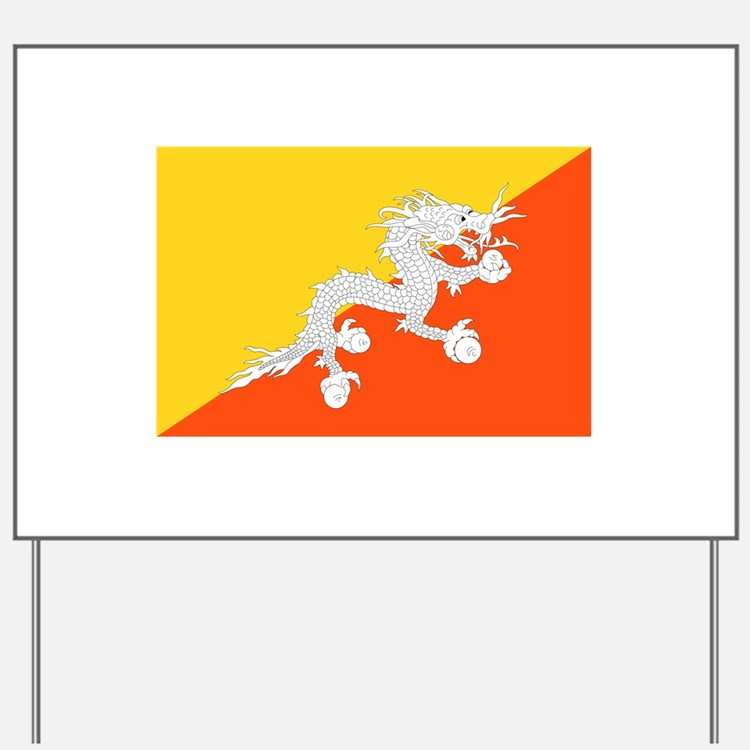 Bhutan Flag Yard Sign
