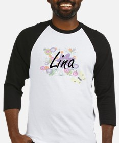 Lina Artistic Name Design with Flo Baseball Jersey