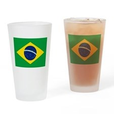 Brazil Flag Drinking Glass