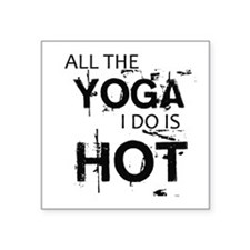 "Bikram Square Sticker 3"" x 3"""