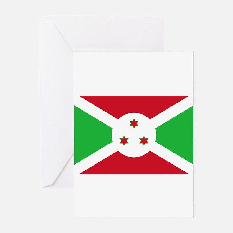 Burundi Flag Greeting Cards