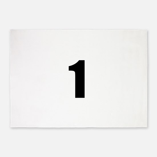 Number 1 5'x7'Area Rug