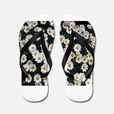 Yellow & white daisies Flip Flops