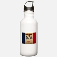 Iowa State Flag VINTAGE Water Bottle