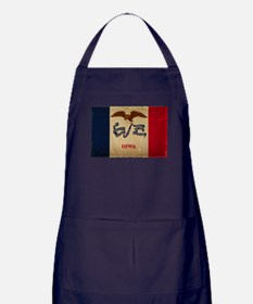 Iowa State Flag VINTAGE Apron (dark)