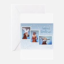 Cute Vizsla christmas Greeting Cards (Pk of 10)