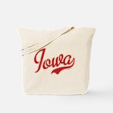 Iowa Script Crimson VINTAGE Tote Bag