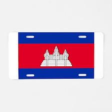 Cambodia Flag Aluminum License Plate