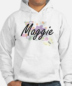 Maggie Artistic Name Design with Hoodie Sweatshirt