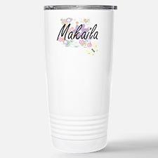 Makaila Artistic Name D Stainless Steel Travel Mug