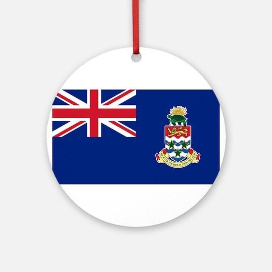 Cayman Islands Flag Round Ornament