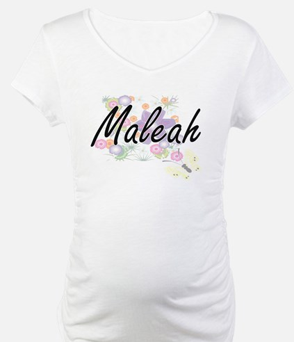 Maleah Artistic Name Design with Shirt