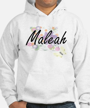 Maleah Artistic Name Design with Hoodie