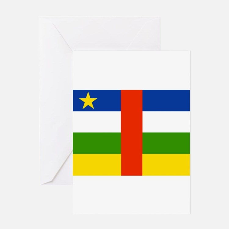 Central African Republic Flag Greeting Cards
