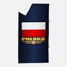Flag of Poland Beach Towel