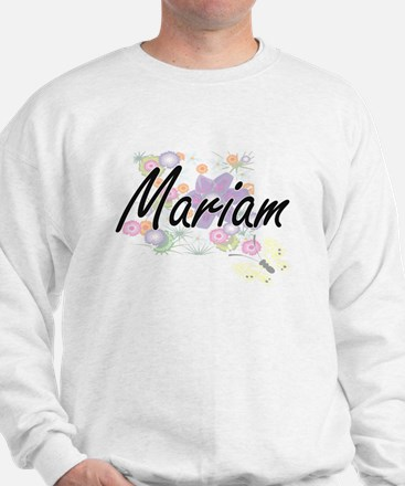 Mariam Artistic Name Design with Flower Sweater