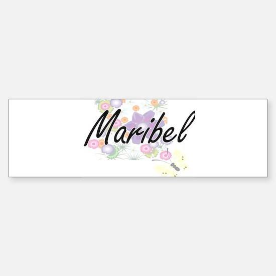 Maribel Artistic Name Design with F Bumper Bumper Bumper Sticker