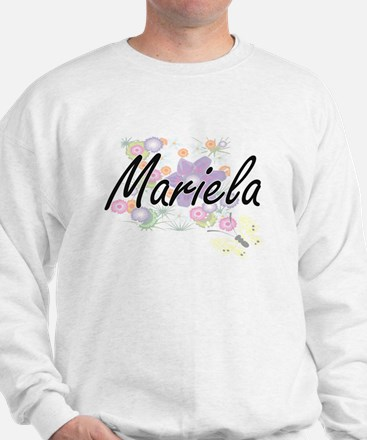 Mariela Artistic Name Design with Flowe Sweater