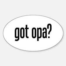 got opa? Oval Decal
