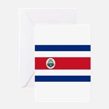 Costa Rica Flag Greeting Cards