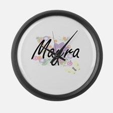 Mayra Artistic Name Design with F Large Wall Clock