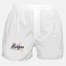Meagan Artistic Name Design with Flow Boxer Shorts