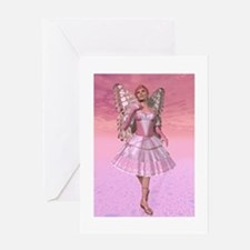 The Pink Fairy Godmother Greeting Cards