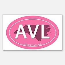 Cute Oval asheville Sticker (Rectangle)